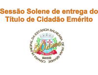 COMUNICADO DE SESSÃO SOLENE