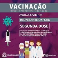 Idosos e profissionais da saúde já podem tomar a segunda dose da vacina contra o COVID-19.